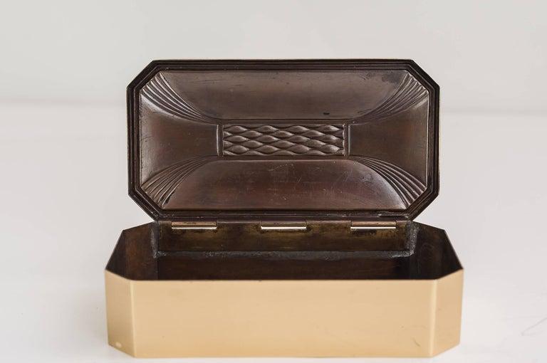 Lacquered Art Deco Jewelry Box, circa 1920s For Sale