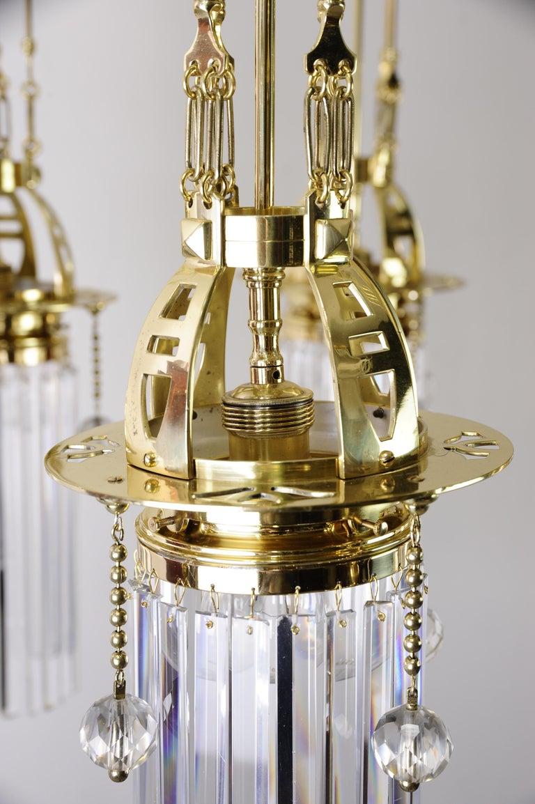 Magnificent and Huge Art Deco Chandelier Vienna, 1920s For Sale 5