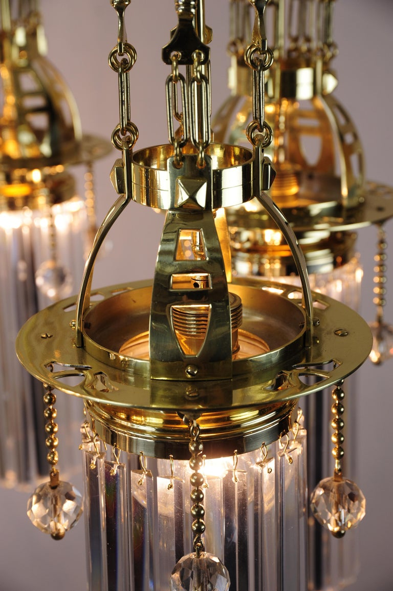 Magnificent and Huge Art Deco Chandelier Vienna, 1920s For Sale 13