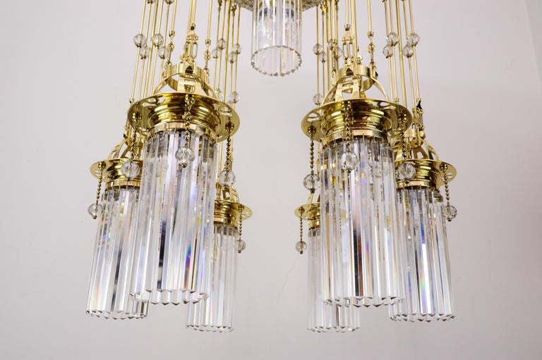 Magnificent and Huge Art Deco Chandelier Vienna, 1920s In Good Condition For Sale In Wien, AT