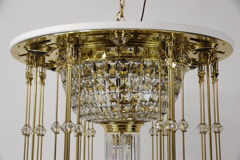Magnificent and Huge Art Deco Chandelier Vienna, 1920s For Sale 2