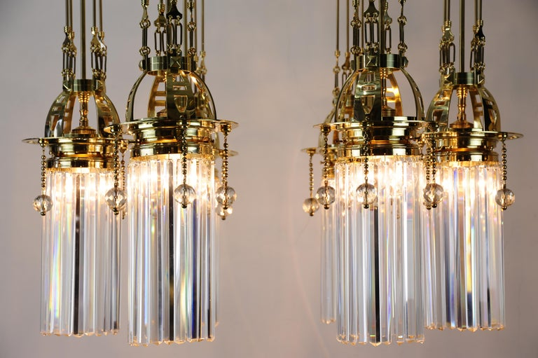 Magnificent and Huge Art Deco Chandelier Vienna, 1920s For Sale 8