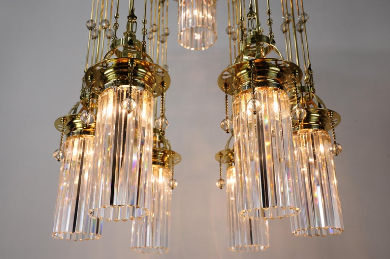 Early 20th Century Magnificent and Huge Art Deco Chandelier Vienna, 1920s For Sale