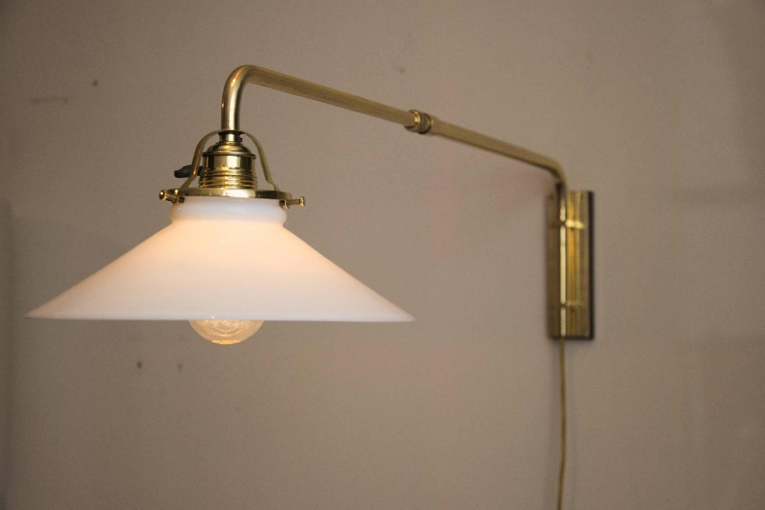 Wall Lamp Art Deco : Adjustable Art Deco Wall Lamp For Sale at 1stdibs
