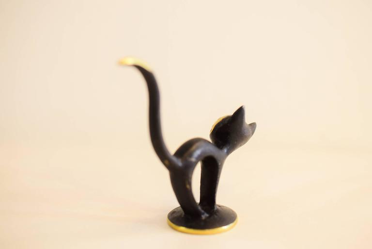 Mid-Century Modern Cat Figurine by Walter Bosse For Sale