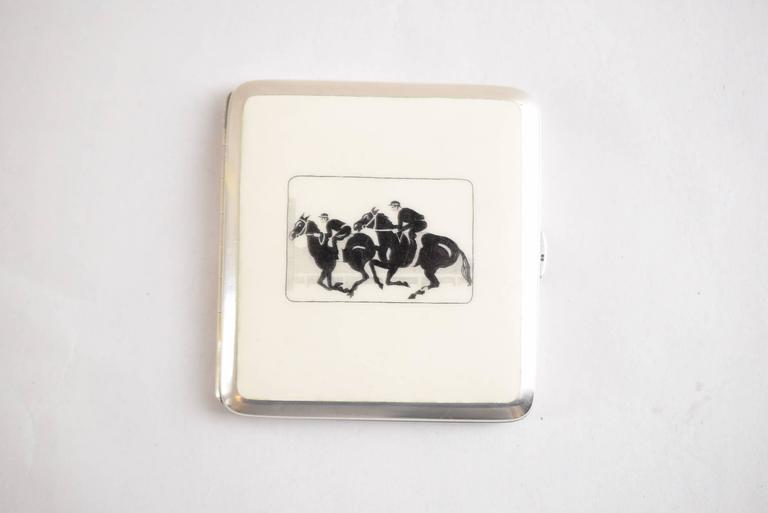 Austrian Enamel Silver Tabacere by Alexander Sturm For Sale