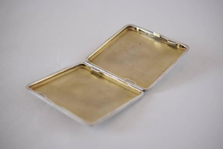 Enamel Silver Tabacere by Alexander Sturm For Sale 1