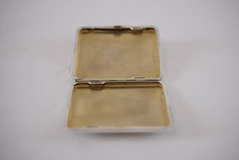 Enamel Silver Tabacere by Alexander Sturm For Sale 2