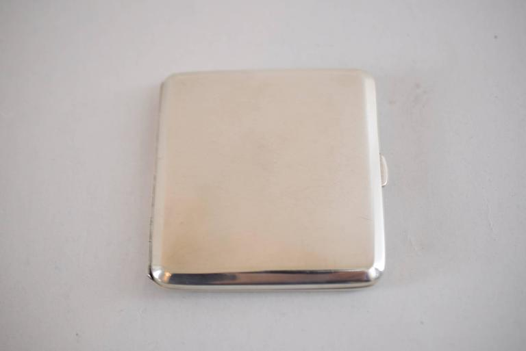 Enamel Silver Tabacere by Alexander Sturm For Sale 3