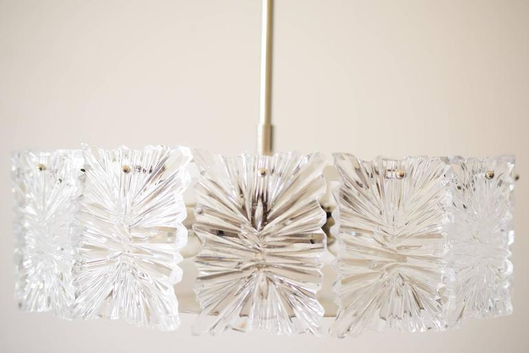 Mid century modernist etched glass chandelier by kinkeldey for sale mid century modernist etched glass chandelier by kinkeldey original condition aloadofball Choice Image