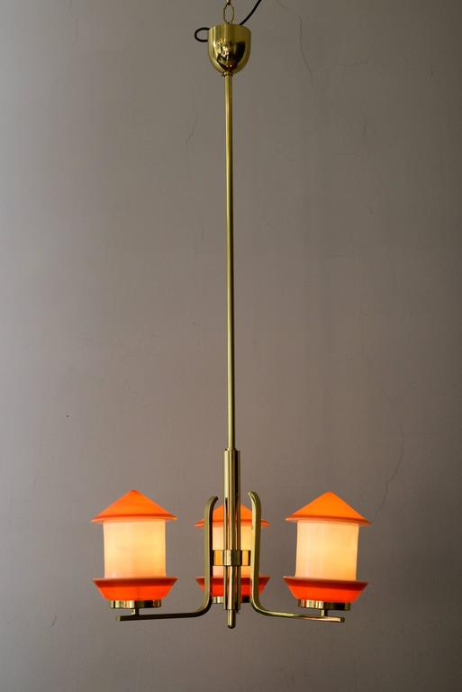Mid-20th Century Art Deco Chandelier, 1930s For Sale