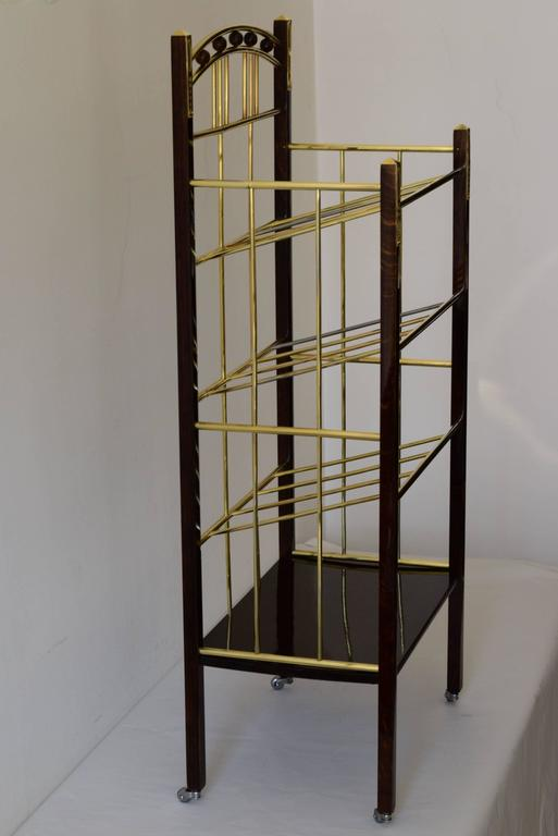 Art Deco Magazine Book Cart For Sale
