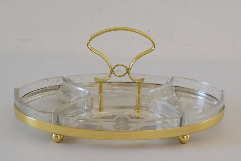 Jugendstil WMF centerpiece with original cut glass.
