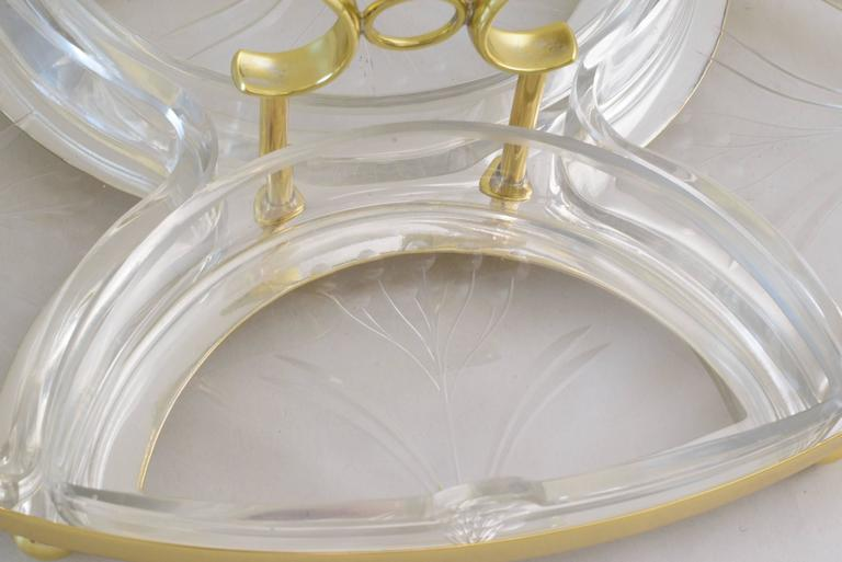 Polished Jugendstil WMF Centerpiece with Original Glass For Sale