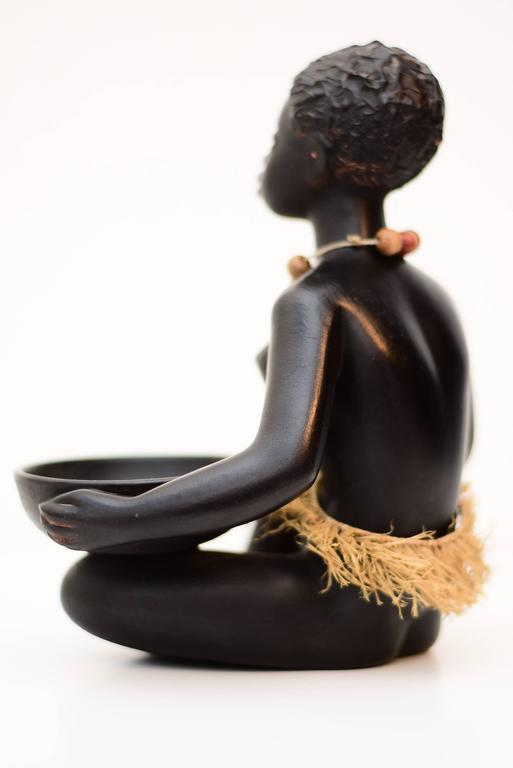 African Woman Sculpture by Leopold Anzengruber, Vienna, 1950s 2