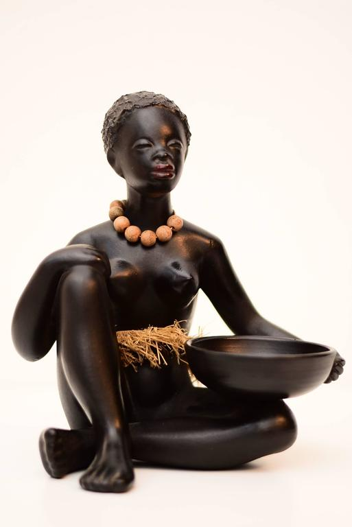 African Woman Sculpture by Leopold Anzengruber, Vienna, 1950s 4