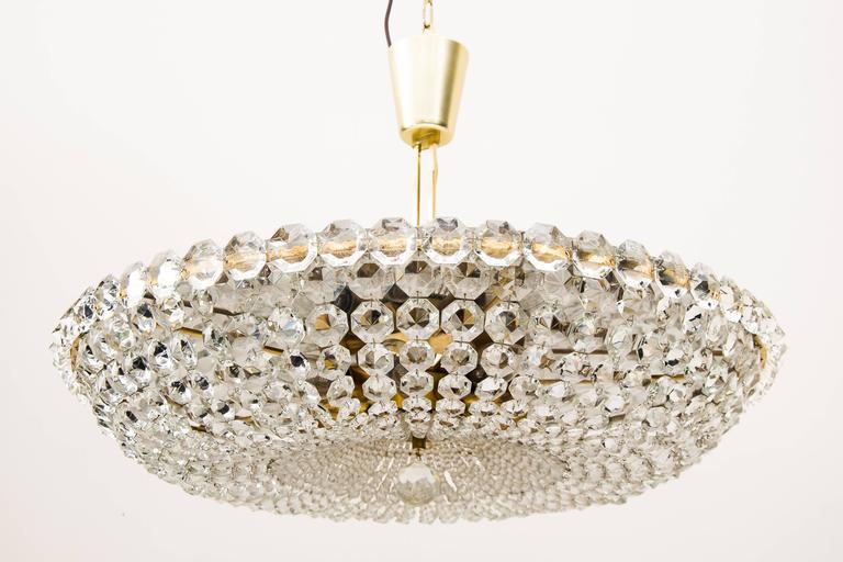 Big chandelier by Bakalowits, circa 1960s Original condition.