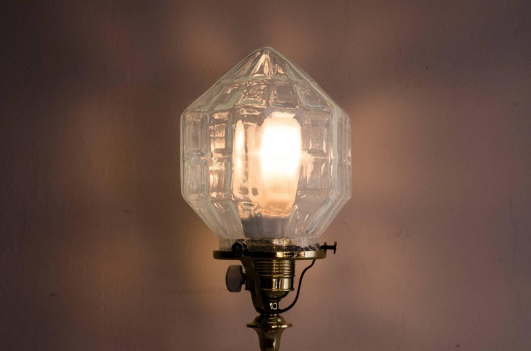 Jugendstil Table Lamp with Opaline Glass, circa 1910s In Excellent Condition For Sale In Wien, AT