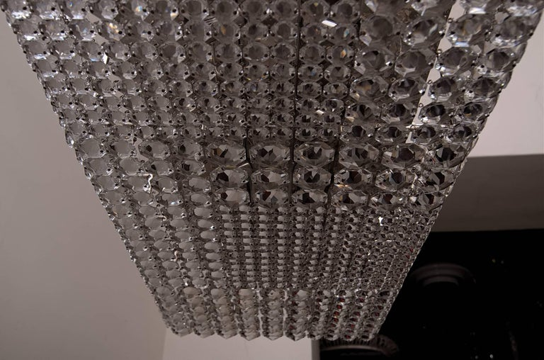 Amazing And Rare Rectangular Crystal Chandelier By E