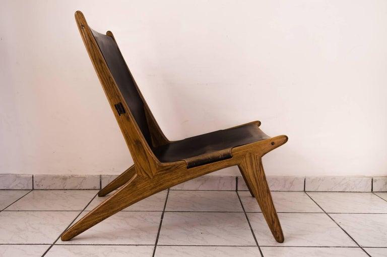 Scandinavian Modern Hunting Chair by Uno & Östen Kristiansson For Sale