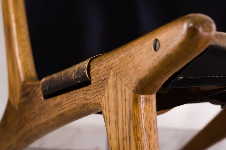 Mid-20th Century Hunting Chair by Uno & Östen Kristiansson For Sale