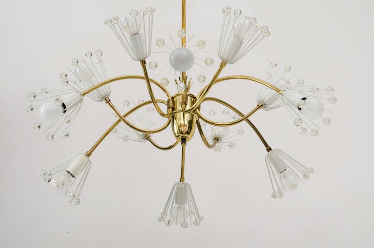 Mid-Century Modern Beautiful Chandelier by Emil Stejnar for Rupert Nikoll For Sale