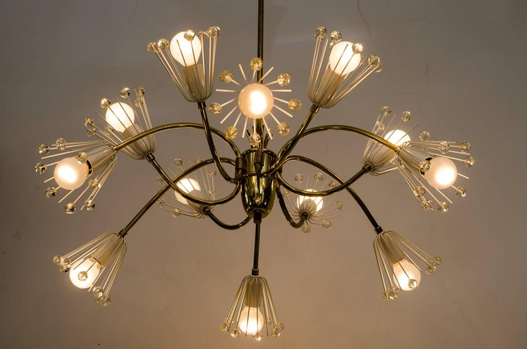 Austrian Beautiful Chandelier by Emil Stejnar for Rupert Nikoll For Sale