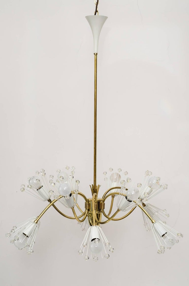 Beautiful Chandelier by Emil Stejnar for Rupert Nikoll In Excellent Condition For Sale In Wien, AT