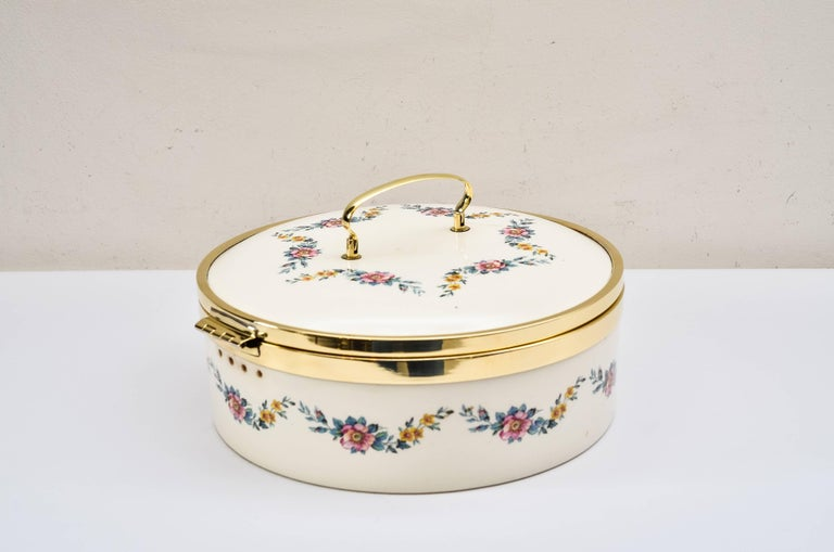 Art Deco Ceramic Bread Box, circa 1920 by Ditmar Urbach In Excellent Condition For Sale In Wien, AT