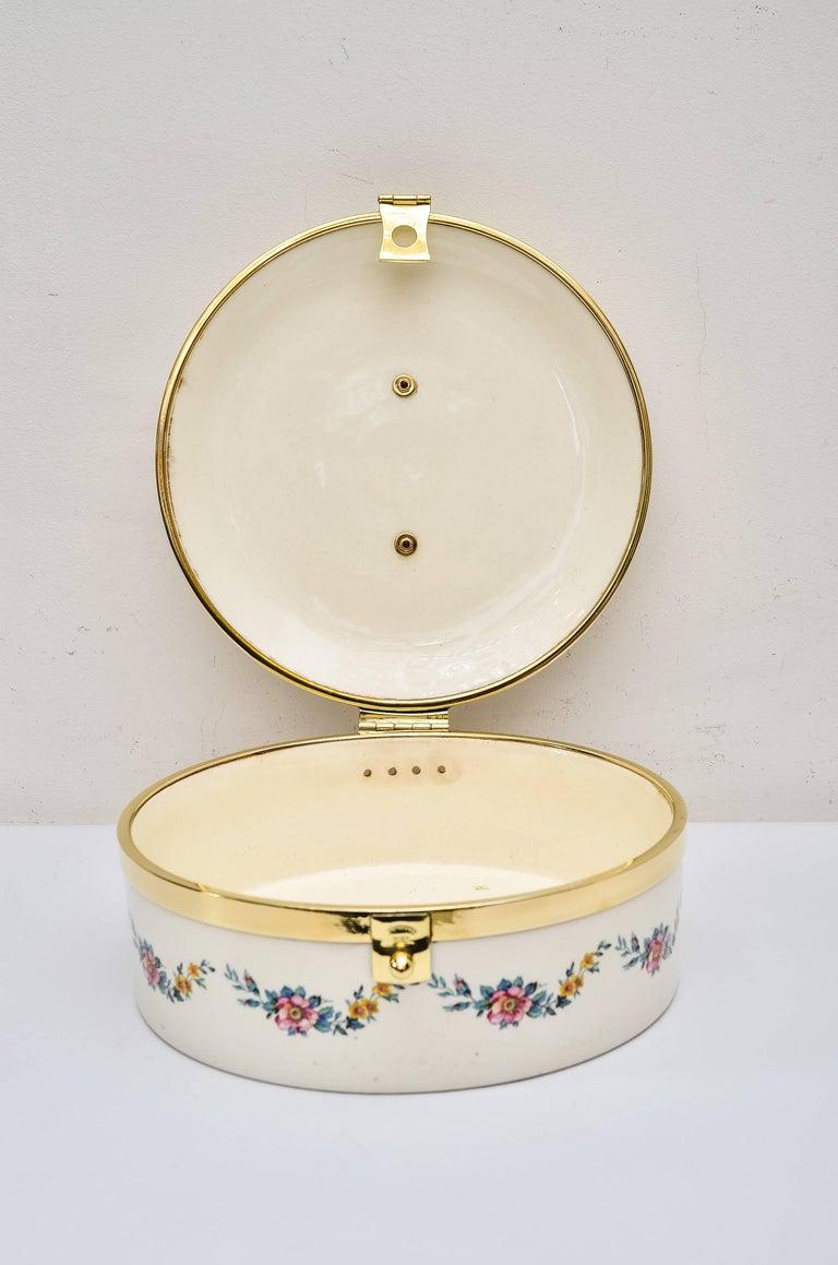 Early 20th Century  Art Deco Ceramic Bread Box, circa 1920 by Ditmar Urbach For Sale
