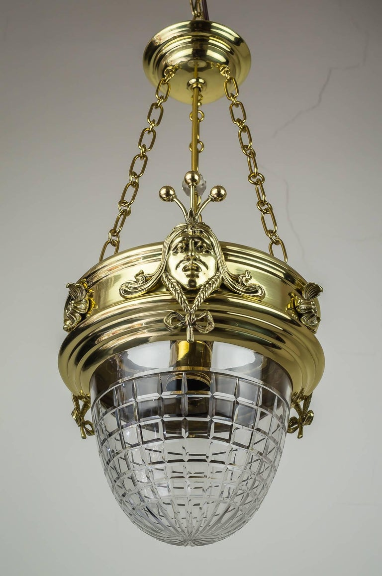 Austrian Jugendstil Pendant, circa 1908 with Original Glass For Sale