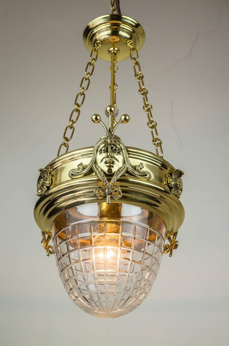 Lacquered Jugendstil Pendant, circa 1908 with Original Glass For Sale