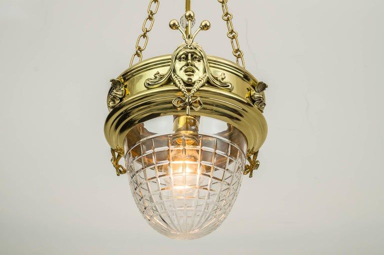 Jugendstil Pendant, circa 1908 with Original Glass In Excellent Condition For Sale In Wien, AT