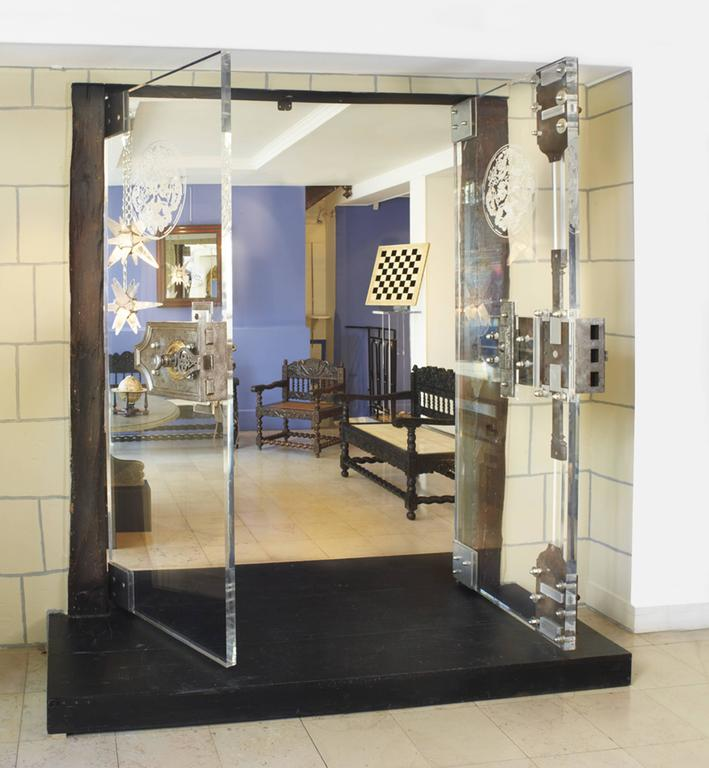 Exceptional lucite doors with 18th century secret lock for for Secret doors for sale