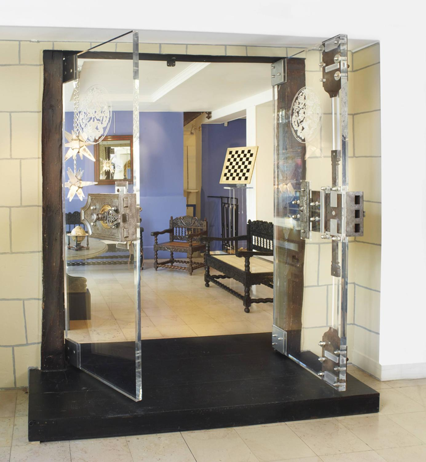 Exceptional Lucite Doors With 18th Century Secret Lock At