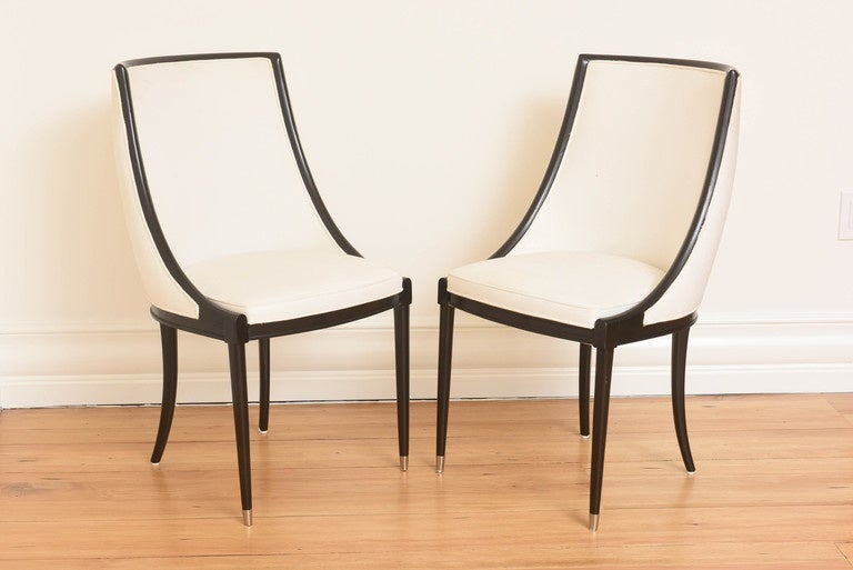 origin set of eight french barrel back dining chairs manner of jansen