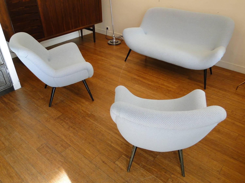 Beautiful Sofa Sets : Beautiful Sofa Set Three Pieces Attributed to Fritz Neth Correcta at ...