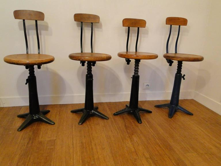 Vintage Industrial Singer Work Chairs Stool by Simanco 2 : industrial work stool - islam-shia.org