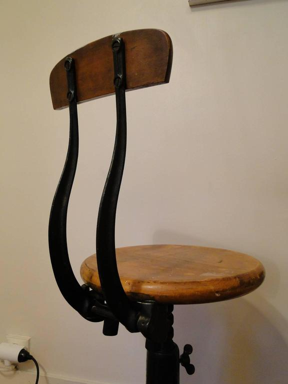 Vintage Industrial Singer Work Chairs Stool By Simanco At