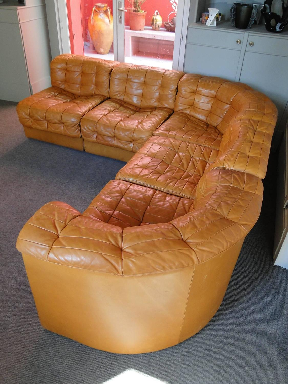 De Sede, Leather Patchwork Chesterfield Sofa in very good condition at 1stdibs
