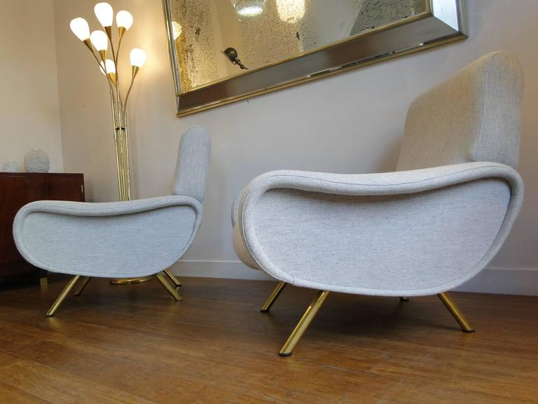 Pair Of Easy Chairs Marco Zanuso For Arflex Model Lady 1951 For Sale At 1stdibs