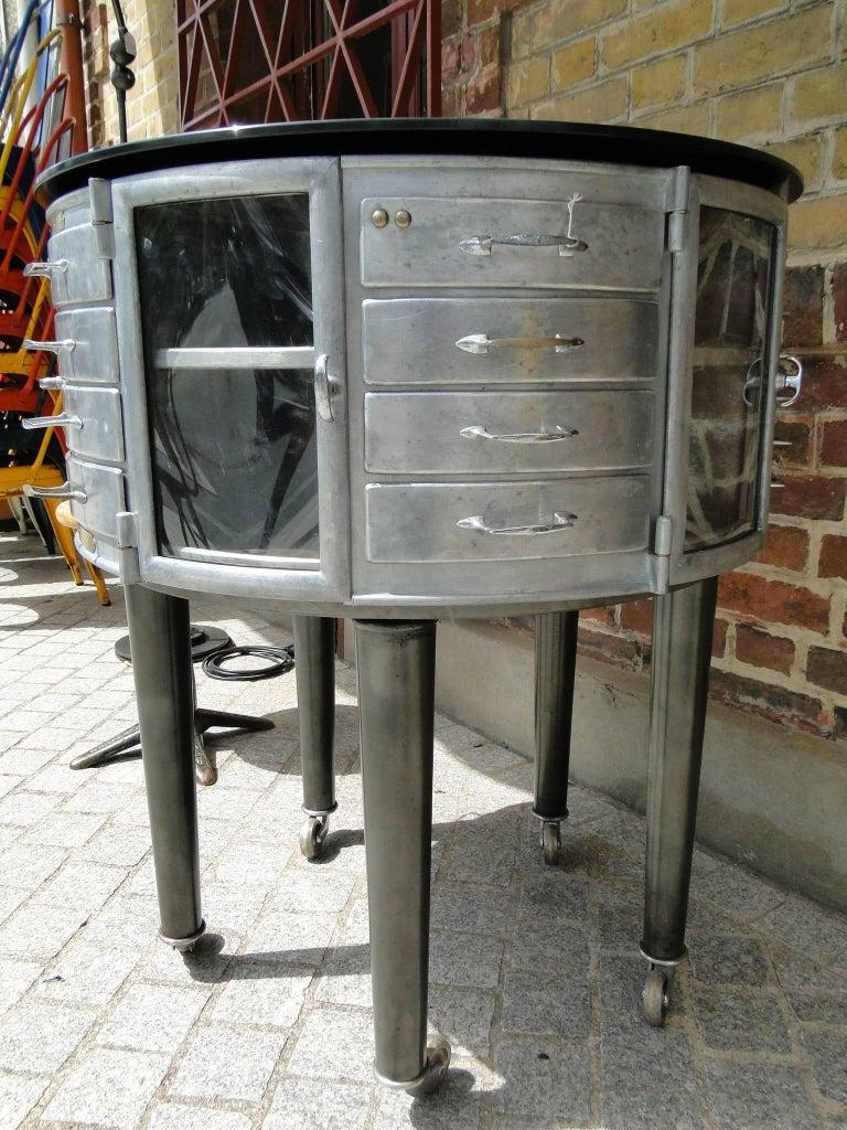 1930s paris french dental cabinet girator rotating medical furniture for sale at 1stdibs - Cabinet medical paris 11 ...