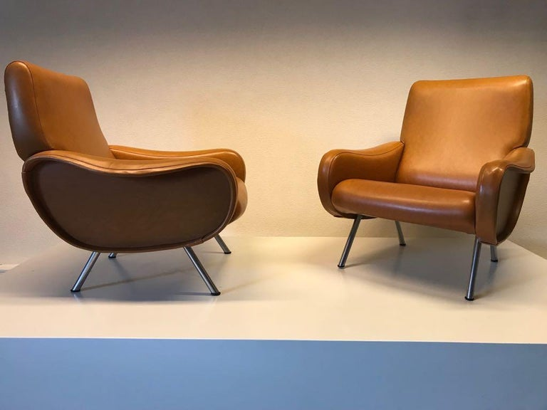 Arflex Marco Zanuso Armchairs In Good Condition For Sale In Heesch, NL