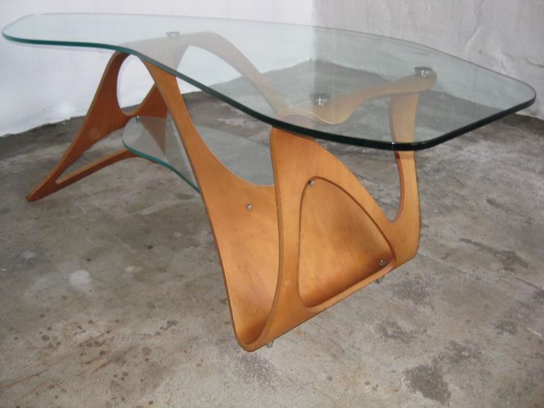 Mid-Century Modern Carlo Mollino Coffee Table Zanotte For Sale