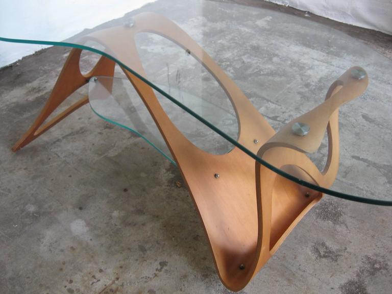 Mid-20th Century Carlo Mollino Coffee Table Zanotte For Sale