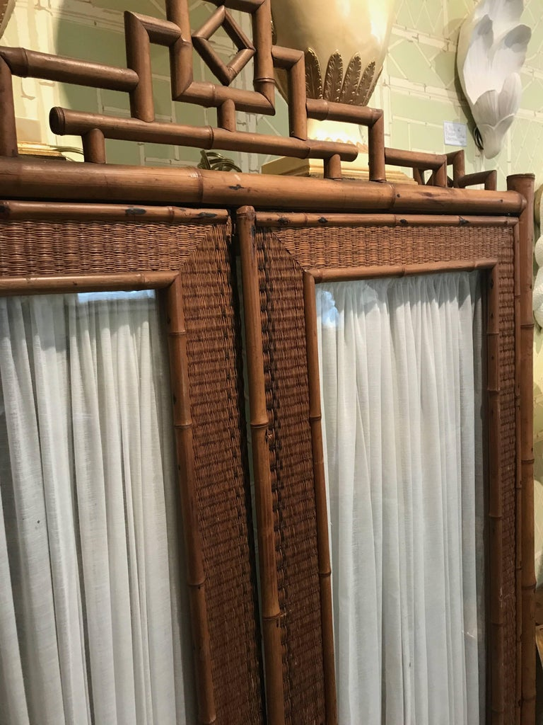 Chinoiserie bamboo cabinet for sale at 1stdibs for Bamboo kitchen cabinets for sale