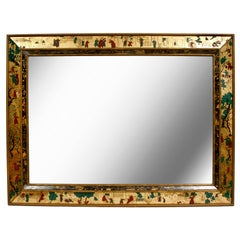 Reverse Glass Asian Englomise Mirror