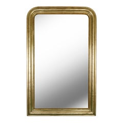 Antique Louis Philippe Gilt Silver Mirror