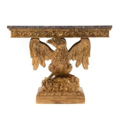 George II Style Carved Gilt Wood Eagle Console
