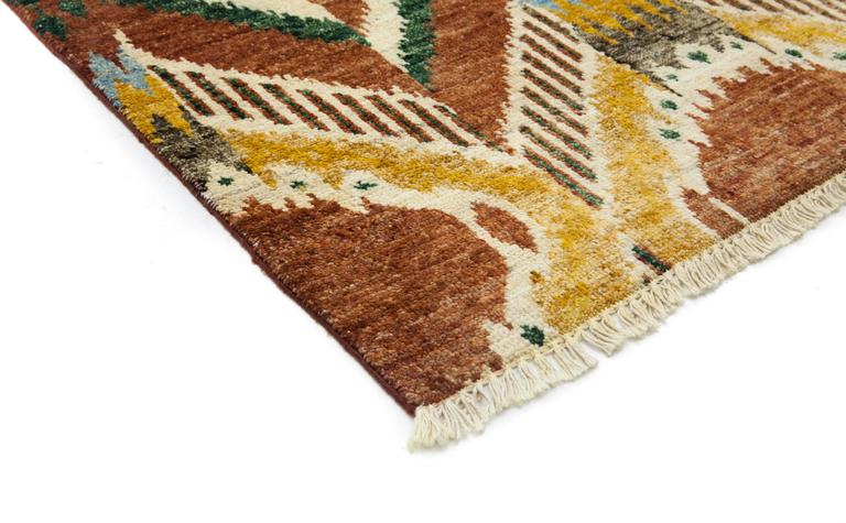 Brown Ikat Area Rug For Sale At 1stdibs